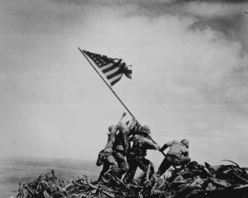 Joe Rosenthal's Famous Raising the Flag Photo Iwo Jima